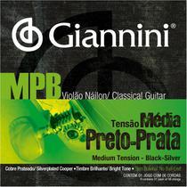 Encordoamento Giannini MPB Sem Bolinha Preto Prata GENWBS + Kit de Acessórios IZ3 -