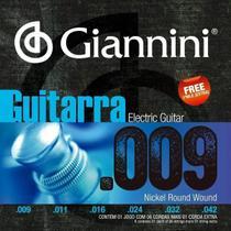 Encordoamento Giannini  p/ Guitarra -- Tensão Leve --  .009 -- GEEGST9 - .009-.042 -