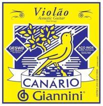 Encordoamento Giannini p/ Violão Canário Aço - GESWB -