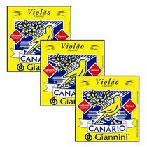 Encordoamento Giannini p/ violão -- Canário Náilon -- GENWB -- Kit c/ 3 jogos -