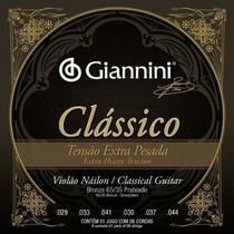Encordoamento Giannini p/ Violão Nailon -- Clássico Tensão Extra Pesada -- GENWXPA -