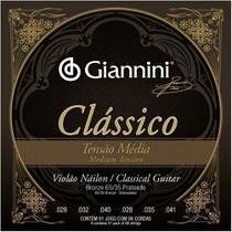 Encordoamento Giannini p/ Violão Nailon Clássico Tensão Média GENWPM -