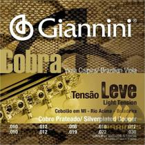 Encordoamento GIANNINI Viola Caipira COBRA LEVE GESVL -
