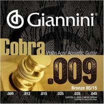 Encordoamento Giannini Violão Aço Cobra 009 -