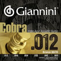 Encordoamento giannini violão bronze 80/20 light 012 ca82l -
