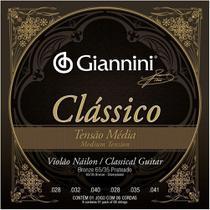 Encordoamento giannini violao classico ny t.med prata genwpm -