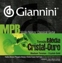Encordoamento giannini violao mpb ny c/ bol cristl-our genwg -