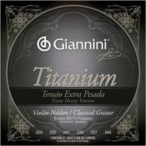 Encordoamento Giannini Violão Nylon Tensão Extra Pesada Titanium -