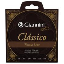 Encordoamento Giannini Violão Nylon Tensão Leve Classico -