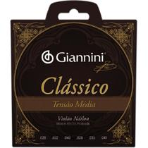 Encordoamento Giannini Violão Nylon Tensão Media Classico -