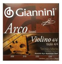 Encordoamento giannini violino aco/alum 4/4 media geavva -