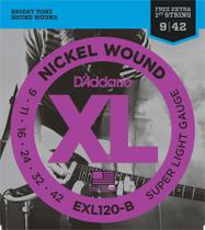 Encordoamento Guitarra 009 DAddario EXL120-B -