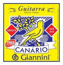 Encordoamento Guitarra 009 Giannini Canario Gesgt9 -