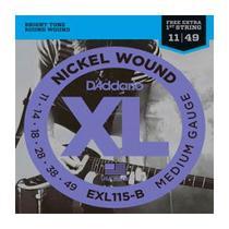 Encordoamento Guitarra .011 Médium Daddario EXL115B -