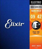 Encordoamento Guitarra Corda Elixir Super Light 0942 Nanoweb 12002 -