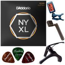 Encordoamento Guitarra Daddario .010 NYXL1046 + Acessórios -