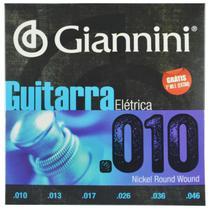 Encordoamento Guitarra Elétrica Aço Inox .010-.046 - Giannini -