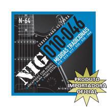 Encordoamento Guitarra Elétrica N64 Nig -