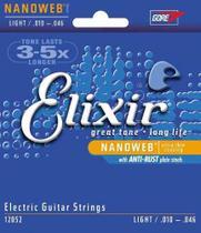 Encordoamento Guitarra Elixir Nanoweb Light 12052 -