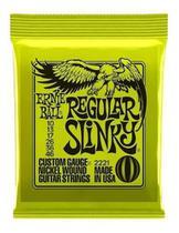 Encordoamento Guitarra Ernie Ball Guitarra 0.10 Regular Slinky -