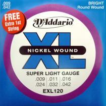 Encordoamento Guitarra Exl120 D'addario -