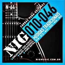 Encordoamento guitarra nig n64 010 extra -