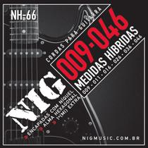 Encordoamento Guitarra Nig NH66 Hibrida .009 .046 -