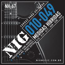 Encordoamento Guitarra Nig NH67 Hibrida .010 .049 -