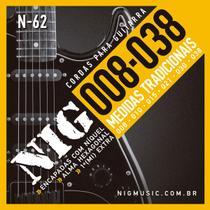 Encordoamento Guitarra Nig Tradicional .008/.038 N62 -