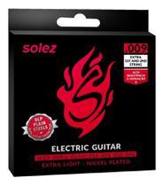 Encordoamento Guitarra Solez 0.9 Slg9 Extra L Cordas Extras -