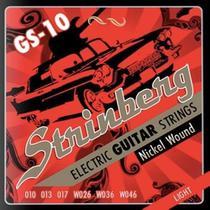 Encordoamento Guitarra Strinberg 010 Gs10 -