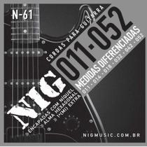 Encordoamento NIG .011 Cordas de Guitarra 011 N61 -