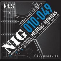 Encordoamento NIG Cordas de Guitarra 010 Hibrida NH67 -