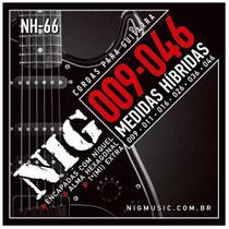Encordoamento Nig Cordas para Guitarra 009 Hibrida NH66 -