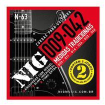 Encordoamento NIG Duplo 2N63 P/ GUITARRA  009/.042 - EC0384 - Nig strings