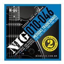 Encordoamento NIG Duplo 2N64 P/ GUITARRA  010/.046 - EC0385 - Nig strings