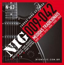 Encordoamento Nig Guitarra 009 N-63 Tradicional + Mi Extra -