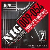 Encordoamento Nig N-70 009/054 para Guitarra Elétrica 7C -