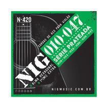 Encordoamento NIG N420 P/ Violão Aço 10/47 - EC0238 - Nig strings