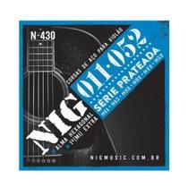 Encordoamento NIG N430 P/ Violão Aço 11/52 - EC0239 - Nig strings