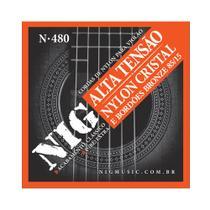 Encordoamento NIG N480 P/ Violão Nylon Clássico Tensão Alta  - EC0240 - Nig strings