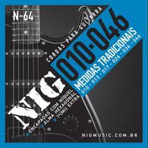 Encordoamento Nig N64 010-046 Níquel Para Guitarra -
