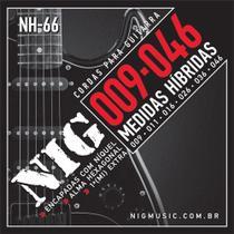 Encordoamento NIG NH66 P/ Guitarra Hybrid Class -  0.09 a 0.46 - EC0073 - Nig music