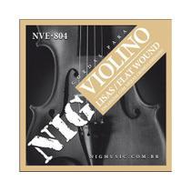 Encordoamento NIG NVE804 P/ Violino Flat Wound -