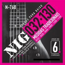 "Encordoamento NIG P/ Baixo 6 Cordas N-760 032""/.130"" - EC0172 - Nig strings"