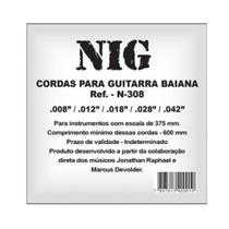 Encordoamento NIG P/ Guitarra Baiana 8/42 - EC0016 - Nig strings