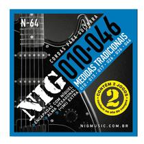 Encordoamento NIG P/ Guitarra Duplo 2N64 10/46 - EC0385 - Nig strings