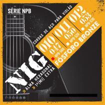 Encordoamento NIG P/ Violão Aço NIG NPB560 .010/.047 Fósforo Bronze - EC0242 - Nig strings