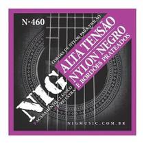 Encordoamento nig p/ violão nylon negro tensão alta n460 -