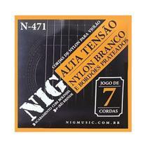 Encordoamento NIG Violão Náilon 7 Cordas Tensão Alta N471 -